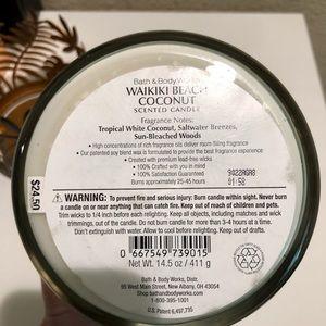 Bath & Body Works Accents - Bath& Body Works Waikiki Beach Coconut Candle